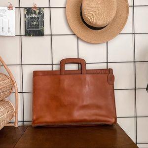 Vintage Bugatti Leather Briefcase